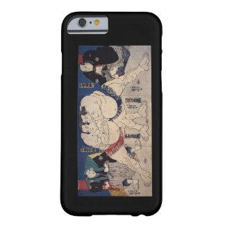 相撲, lucha de sumo del 国芳, Kuniyoshi, Ukiyo-e Funda De iPhone 6 Barely There