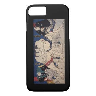 相撲, lucha de sumo del 国芳, Kuniyoshi, Ukiyo-e Funda iPhone 7