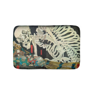 相馬の古内裏,国芳 Skeleton manipulated by Witch, Kuniyoshi Bathroom Mat