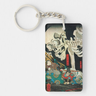 相馬の古内裏,国芳 Skeleton manipulated by Witch, Kuniyoshi Keychain