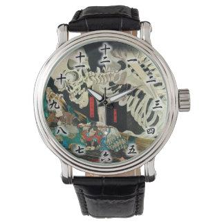 相馬の古内裏, esqueleto del 国芳 manipulado por la bruja, relojes de mano