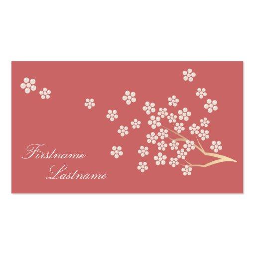 真珠の花 名刺  visiting card tarjetas de visita