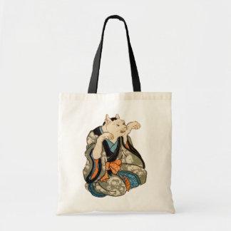 着物の猫, 芳藤 Kimono Cat, Yoshifuji, Ukiyoe Tote Bags