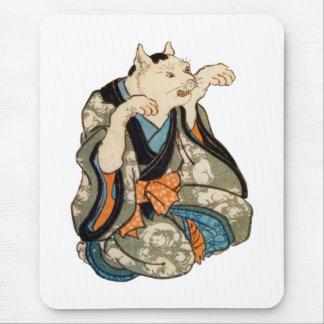 着物の猫, 芳藤 Kimono Cat, Yoshifuji, Ukiyoe Mouse Pad