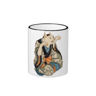 着物の猫, 芳藤 Kimono Cat, Yoshifuji, Ukiyoe Ringer Mug