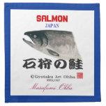 石狩サーモン【HOKKAIDO SALMON 石狩の鮭】 オリジナルネームカスタマイズ可能 プリントナプキン
