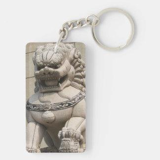 石獅 femenino chino del perro de Foo del león del gu Llaveros