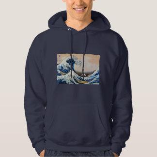 神奈川沖浪裏, 北斎 Great Wave, Hokusai Hooded Sweatshirt