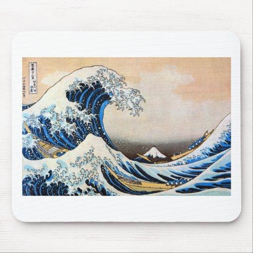 神奈川沖浪裏,北斎 Great Wave, Hokusai Mouse Pad