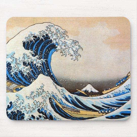 神奈川沖浪裏, 北斎 Great Wave, Hokusai Mouse Pad