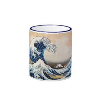神奈川沖浪裏,北斎 Great Wave, Hokusai Ringer Mug