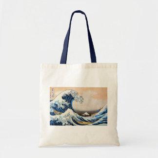 神奈川沖浪裏,北斎 Great Wave, Hokusai Tote Bag