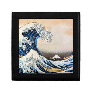 神奈川沖浪裏, 北斎 Great Wave, Hokusai, Ukiyo-e Jewelry Box