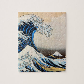 神奈川沖浪裏, 北斎 Great Wave, Hokusai, Ukiyo-e Jigsaw Puzzle