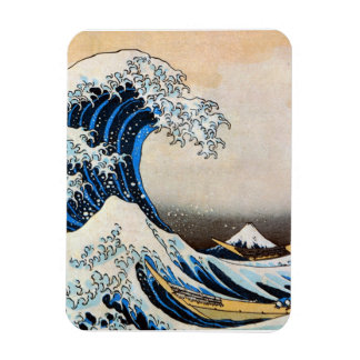 神奈川沖浪裏, 北斎 Great Wave, Hokusai, Ukiyo-e Rectangular Magnet