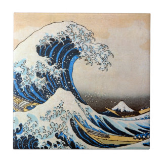神奈川沖浪裏, 北斎 Great Wave, Hokusai, Ukiyo-e Tile