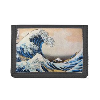 神奈川沖浪裏, 北斎 Great Wave, Hokusai, Ukiyo-e Trifold Wallet