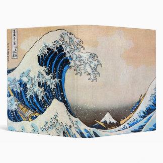神奈川沖浪裏, 北斎 Great Wave, Hokusai Vinyl Binder