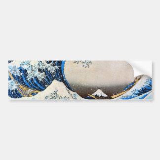 神奈川沖浪裏, gran onda del 北斎, Hokusai Etiqueta De Parachoque