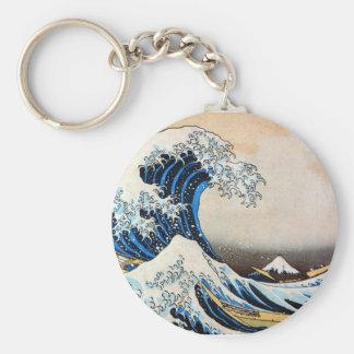 神奈川沖浪裏 gran onda del 北斎 Hokusai Llavero Personalizado