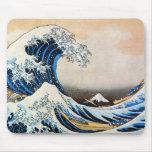 神奈川沖浪裏, gran onda del 北斎, Hokusai Tapetes De Raton