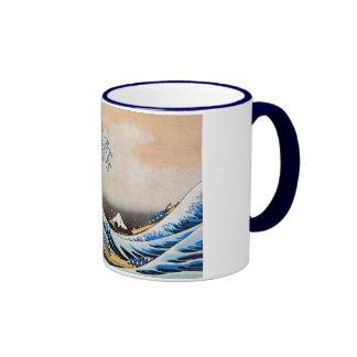 神奈川沖浪裏, gran onda del 北斎, Hokusai Tazas De Café