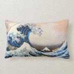 神奈川沖浪裏, gran onda del 北斎, Hokusai, Ukiyo-e Almohadas