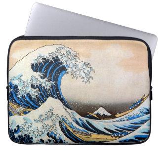 神奈川沖浪裏, gran onda del 北斎, Hokusai, Ukiyo-e Funda Portátil