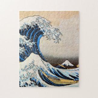 神奈川沖浪裏 gran onda del 北斎 Hokusai Ukiyo-e Rompecabezas