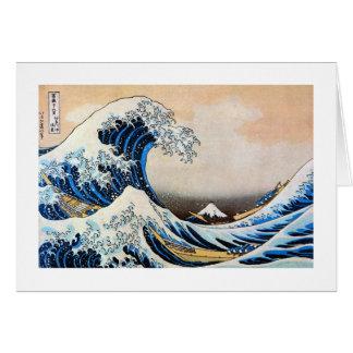 神奈川沖浪裏, gran onda del 北斎, Hokusai, Ukiyoe Tarjeta De Felicitación
