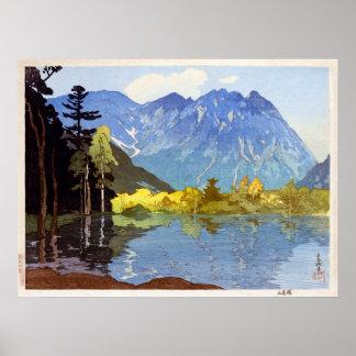 穂高岳, Mount Hotaka, Hiroshi Yoshida, Woodcut Poster