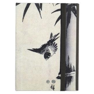 竹に雀, 歌川広重 Bamboo & Sparrow, Hiroshige, Sumi-e iPad Folio Cases
