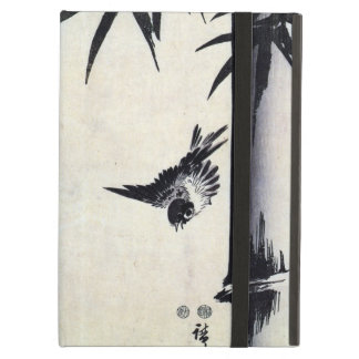 竹に雀 bambú y gorrión Hiroshige Sumi-e del 歌川広重