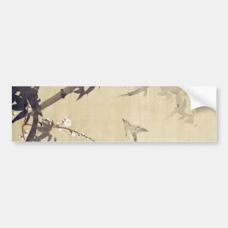 竹に鳥, 其一 Bird and Bamboo, Kiitsu, Japan Art Bumper Sticker