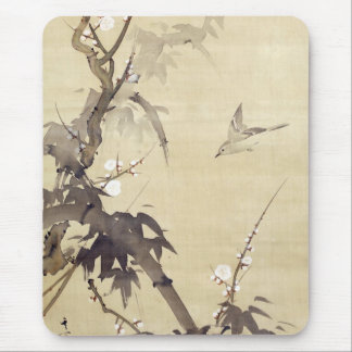竹に鳥, 其一 Bird and Bamboo, Kiitsu, Japan Art Mouse Pad