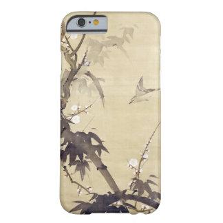 竹に鳥, pájaro y bambú, Kiitsu, arte del 其一 de Japón Funda De iPhone 6 Barely There