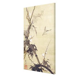 竹に鳥, pájaro y bambú, Kiitsu, arte del 其一 de Japón Impresiones En Lona