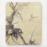 竹に鳥, pájaro y bambú, Kiitsu, arte del 其一 de Japón Tapete De Raton