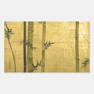 竹図, 光琳 Bamboo, Ogata Kōrin, Sumi-e Rectangular Sticker