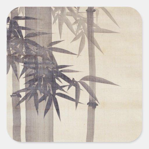 竹, 其一 Bamboo, Kiitsu, Japan Art Square Sticker
