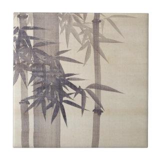 竹, bambú del 其一, Kiitsu, arte de Japón Azulejo Cuadrado Pequeño