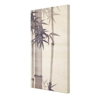 竹, bambú del 其一, Kiitsu, arte de Japón Lienzo Envuelto Para Galerías