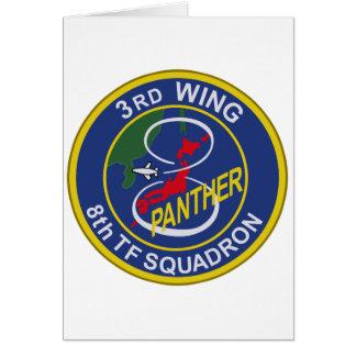 第3航空団第8飛行隊パッチ GREETING CARD