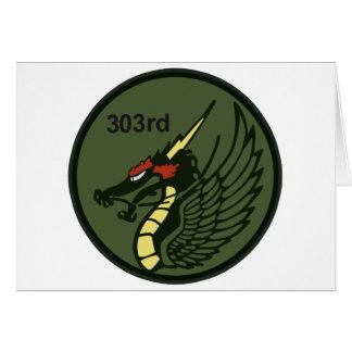 第303飛行隊パッチ 303th TFS Greeting Card