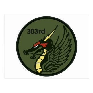 第303飛行隊パッチ 303th TFS Postcard