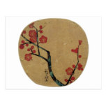 紅梅図, flores del ciruelo del 光琳, Kōrin Tarjetas Postales
