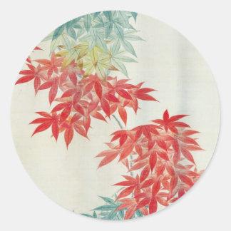 紅葉, 其一 Japanese maple tree, Kiitsu Classic Round Sticker