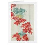 紅葉, árbol de arce japonés del 其一, Kiitsu Tarjeta De Felicitación
