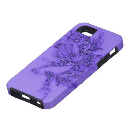 紫色のベータ魚 iPhone 5 Case-Mate PROTECTORES