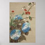 紫陽花とトンボ, Hydrangea y libélula, Hōitsu del 抱一 Impresiones